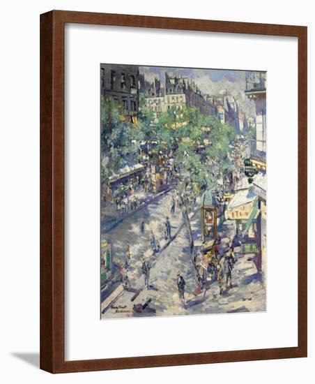 The Boulevard De Sébastopol in Paris, 1923-Konstantin Alexeyevich Korovin-Framed Giclee Print