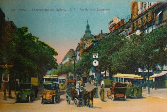 The Boulevard des Italiens, Paris, c1920-Unknown-Giclee Print