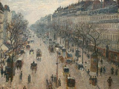The Boulevard Montmartre on a Winter Morning-Camille Pissarro-Photographic Print