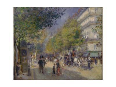 The Boulevards (Les Grands Boulevards), 1875-Pierre-Auguste Renoir-Giclee Print