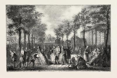 The Boulevards of Paris in the 18th Century, France, 1882--Giclee Print