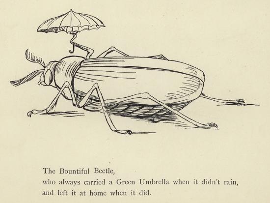 The Bountiful Beetle-Edward Lear-Giclee Print