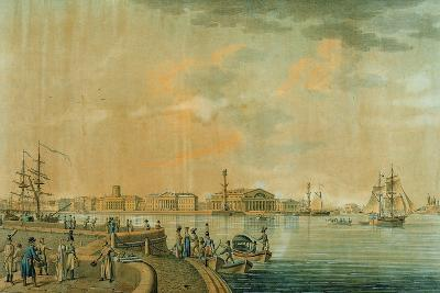 The Bourse and the Rostral Columns, Saint Petersburg, 1807--Giclee Print