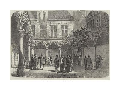 The Bourse at Antwerp Recently Destroyed by Fire--Giclee Print