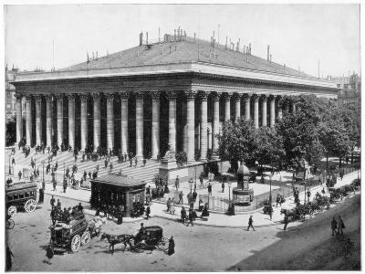 The Bourse, Paris, Late 19th Century-John L Stoddard-Giclee Print