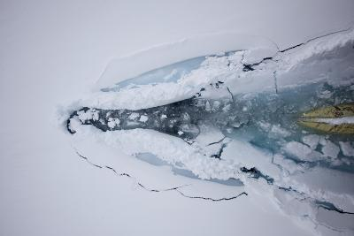 The Bow of a Cruise Ship Plows Through Pack Ice-Jim Richardson-Photographic Print