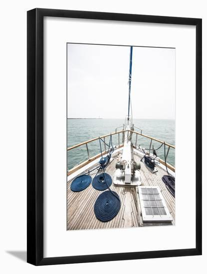 The Bow of a Wooden Sailboat on the Ocean in Panama-Jonathan Kingston-Framed Photographic Print
