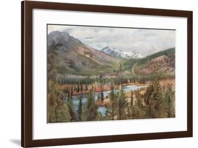 The Bow River at Banff-Harold Copping-Framed Giclee Print