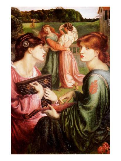 The Bower Meadow-Dante Gabriel Rossetti-Art Print