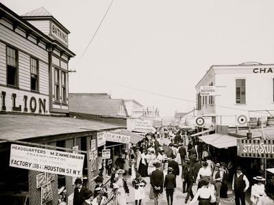 The Bowery, Looking East, Rockaway, N.Y.--Photo