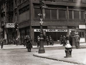The Bowery, Noted as a Home for New York's Alcoholics, Prostitutes and the Homeless 1940s