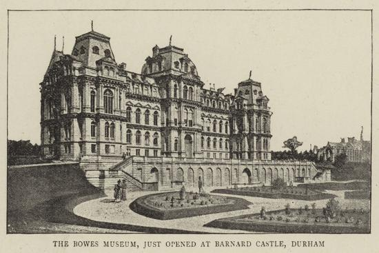 The Bowes Museum, Just Opened at Barnard Castle, Durham--Giclee Print