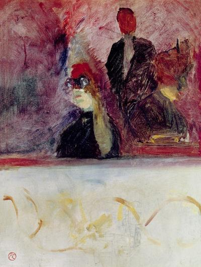 The Box at the Mascaron Dore, 1893-Henri de Toulouse-Lautrec-Giclee Print