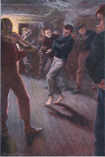 The Boy Could Dance the Fisherman's Jig-Arthur Rackham-Giclee Print