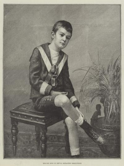 The Boy King of Servia, Alexander Obrenovitch--Giclee Print