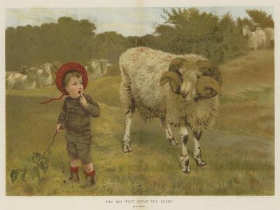 The Boy That Drove the Sheep-William Weekes-Giclee Print