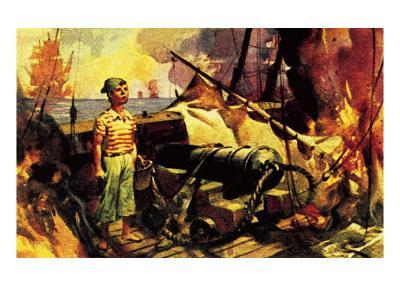 The Boy Who Stood on the Burning Deck-McConnell-Giclee Print