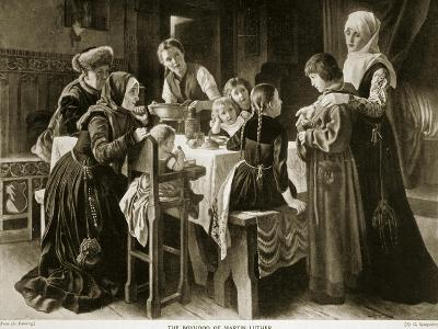 The Boyhood of Martin Luther, Illustration from 'Hutchinson's Story of the British Nation', C.1923-Gustav Adolph Spangenberg-Giclee Print
