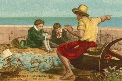 The Boyhood of Sir Walter Raleigh-John Everett Millais-Giclee Print