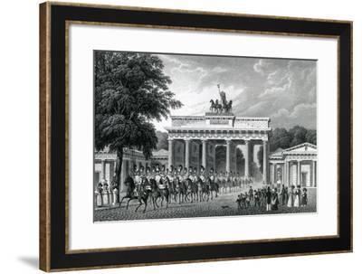 The Brandenburg Gate, Berlin, 1833--Framed Giclee Print