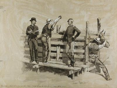 The Branding Chute-Frederic Remington-Giclee Print