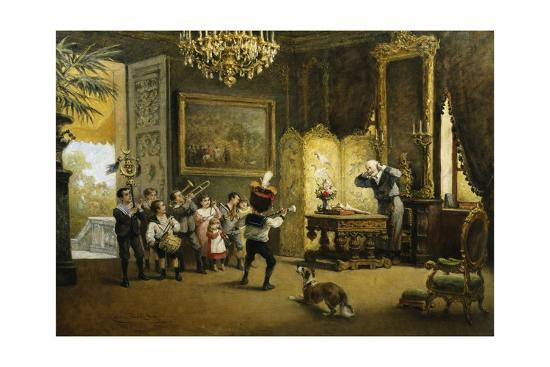 The Brass Band-Cesare Felix Georges Dell'Acqua-Giclee Print