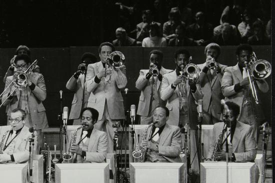 The Brass Section of the Count Basie Orchestra, Royal Festival Hall, London, 18 July 1980-Denis Williams-Photographic Print