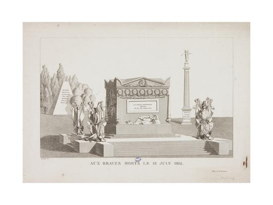 The Brave Dead of the 18 June 1815, 1815-Hippolyte Lecomte-Giclee Print