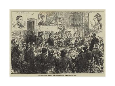 The Bravo Inquest, Sketch in Court, Cross-Examination of Mrs Cox by Mr Lewis-Charles Robinson-Giclee Print
