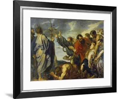 The Brazen Serpent, 1618-20-Sir Anthony Van Dyck-Framed Giclee Print