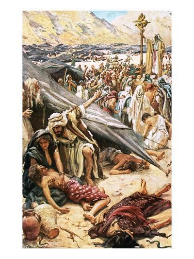 The Brazen Serpent-Harold Copping-Giclee Print