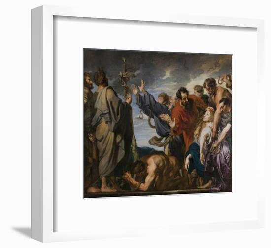 The Brazen Serpent-Sir Anthony Van Dyck-Framed Giclee Print