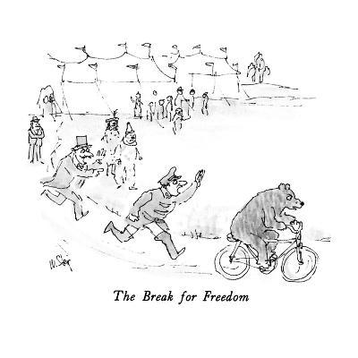The Break for Freedom - New Yorker Cartoon-William Steig-Premium Giclee Print