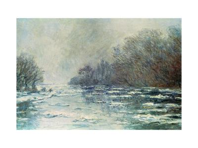 The Break up at Vetheuil, circa 1883-Claude Monet-Giclee Print