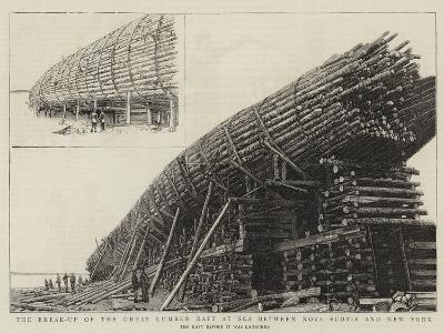 The Break-Up of the Great Lumber Raft at Sea Between Nova Scotia and New York--Giclee Print