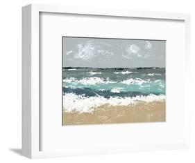 The Breakers II-Jade Reynolds-Framed Art Print