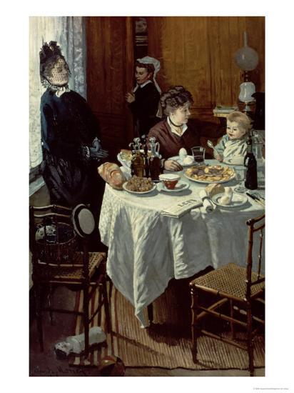 The Breakfast, 1868-Claude Monet-Giclee Print