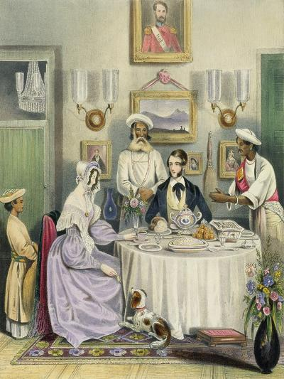 The Breakfast, Plate 3 from Anglo Indians, c.1842-William Tayler-Giclee Print