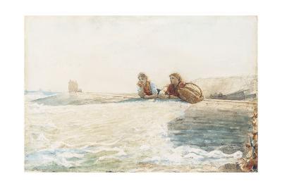 The Breakwater, 1883-Winslow Homer-Giclee Print
