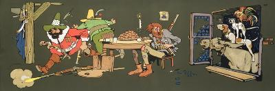 The Bremen Town Band, Scene from 'Grimm's Fairy Tales', C.1912--Giclee Print