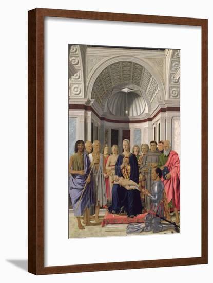 The Brera Altarpiece, 1472-74-Piero della Francesca-Framed Giclee Print