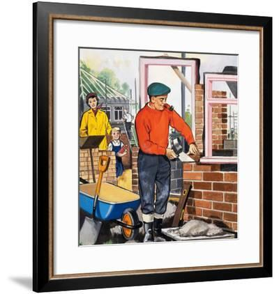The Bricklayer--Framed Giclee Print