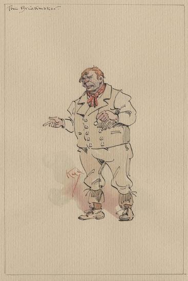 The Brickmaker, C.1920s-Joseph Clayton Clarke-Giclee Print