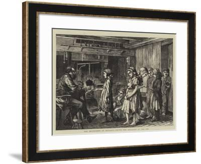 The Brickyards of England, Paying the Children at the Inn--Framed Giclee Print