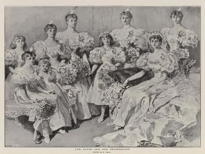 The Bride and Her Bridesmaids-William Small-Giclee Print