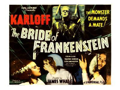 The Bride of Frankenstein, Boris Karloff, Elsa Lanchester, Colin Clive, Valerie Hobson, 1935--Photo