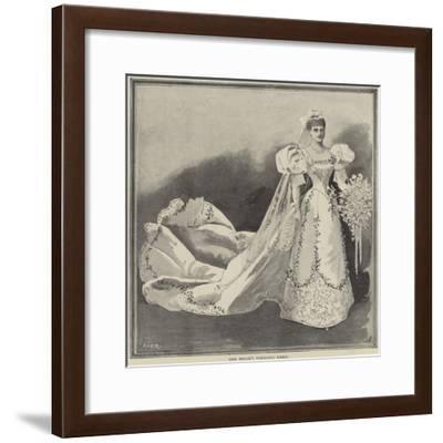 The Bride's Wedding Dress--Framed Giclee Print