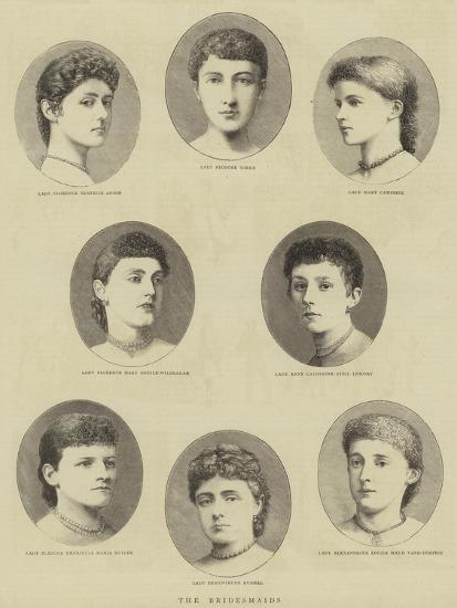 The Bridesmaids--Giclee Print