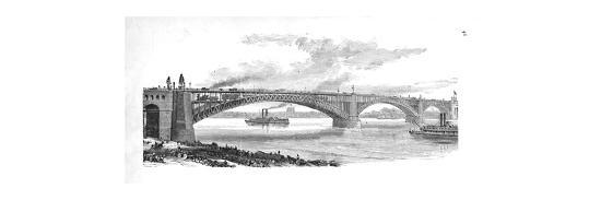 'The Bridge across the Mississippi at St. Louis', 1883-Unknown-Giclee Print