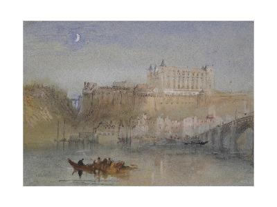 The Bridge and Château at Amboise-J^ M^ W^ Turner-Giclee Print